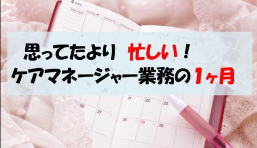 【ケアマネ生活】ケアマネージャーの業務の流れ(1か月)を紹介します。